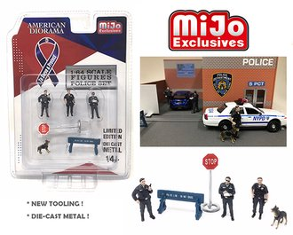 1:64 Police Figures (Set of 6)