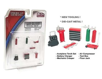 1:64 Mechanic Tools (Set of 7) (Red)