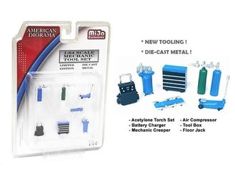 1:64 Mechanic Tools (Set of 7) (Blue)
