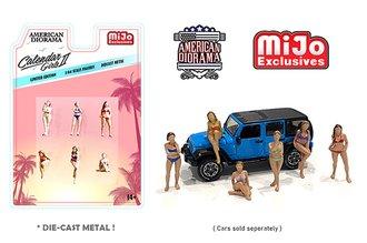American Diorama 1:64 Figures - Mechanic Calender Girls Set 2 (July-December)