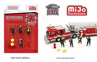 American Diorama 1:64 Figures - Fire Fighters Set