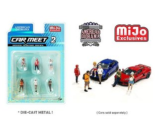 American Diorama 1:64 Figures - Car Meet #2 Set