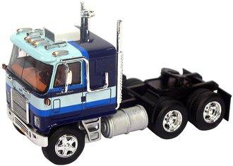 1:64 1977 Chevrolet Titan/90 COE Sleeper Cab Tandem Axle Road Tractor (Blue w/Stripes)