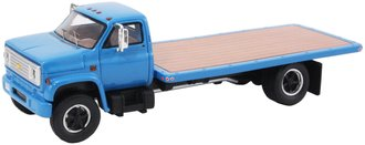 1:64 1975 Chevy C-65 Flatbed Truck (Blue)