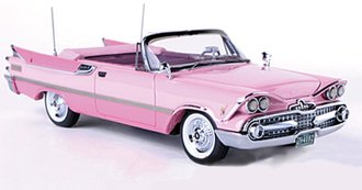 1:43 1959 Dodge Custom Royal Lancer Convertible (Pink)