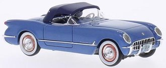 1953 Corvette Closed Convertible (Blue Metallic)