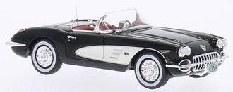 1:43 1959 Chevrolet Corvette (Black/White)