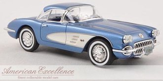 1959 Corvette C1 Hardtop (Blue Metallic/White)