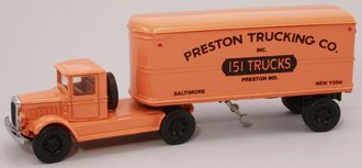 "Mack BM w/22' Trailer ""Preston Trucking Co."""