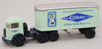 "1:64 Mack CJ w/22' Trailer ""Gillette Safety Razor Co."""