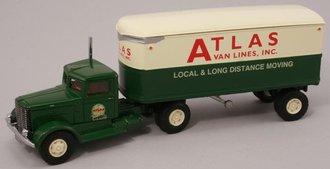 """Peterbilt 260 w/22' Trailer """"Atlas Van Lines"""""""
