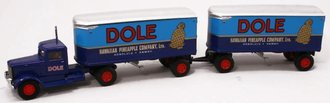"1:64 Peterbilt 260 w/22' Doubles ""Dole Hawaiian Pineapple"""