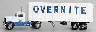 "1:64 Peterbilt 260 w/32' Ribbed Trailer ""Overnite"""