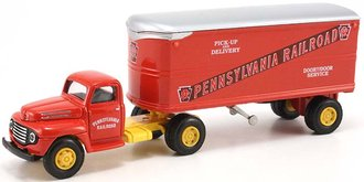 "Ford F-7 w/22' Trailer ""Pennsylvania Railroad"""