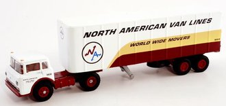 "1:64 Ford C w/32' Ribbed Trailer ""North American Van Lines"" (Limited Edition)"