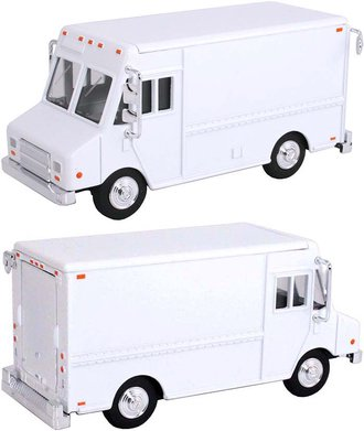 1:48 Delivery Step Van (White - Undecorated)