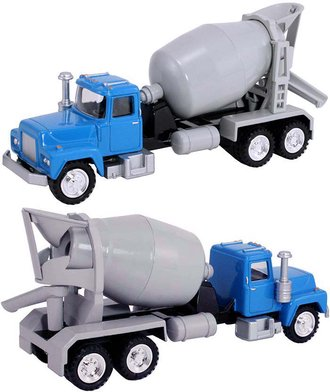 1:50 Cement Mixer Truck (Blue/Gray)