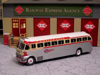 "1:50 1948 ACF-Brill IC-41 Coach ""Continental Trailways"""