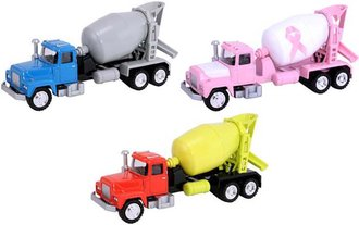 1:50 Cement Mixer Truck Collection (Set of 3)