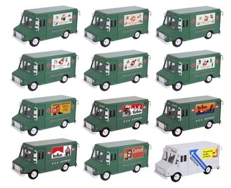 1:48 Railway Express Agency Cigaratte Advertising Truck Collection (Set of 12)