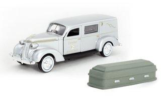 "1:43 1937 Studebaker Hearse ""Preston Funeral Home"" (Silver) w/Casket"