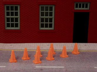 1:50 Safety Cones (Orange) (8)