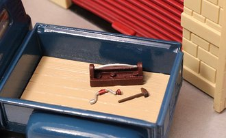 1:48 Carpenter's Tool Box (1), Brace & Bit (1) & Mallet (1)