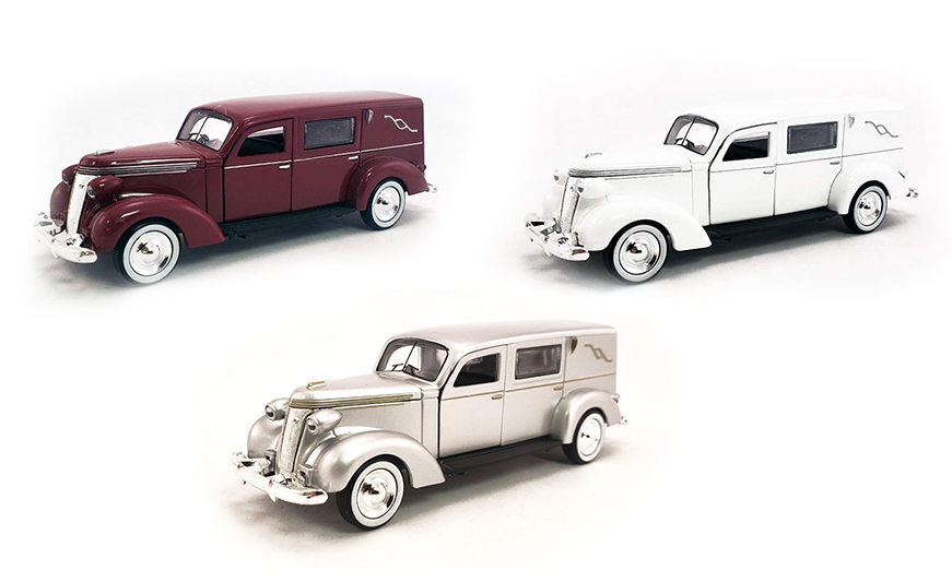 1:43 1937 Studebaker Hearse (Set of 3)