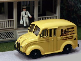 "1:87 Divco Delivery ""Lilly Farm Dairy"" w/Milkman & Carrier"