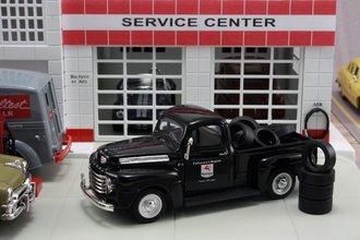 "1948 Ford F1 Pickup ""Mobilgas"" w/Tire Load"