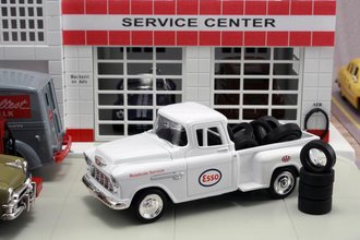 "1955 Chevy Pickup ""Esso"" w/Tire Load"