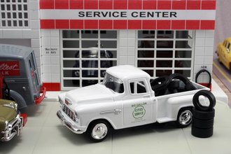 "1955 Chevy Pickup ""Cities Service"" w/Tire Load"