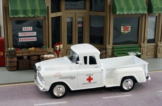 "1955 Chevy Pickup ""Red Cross Mobile Disaster"""