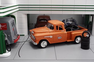 """1955 Chevy Pickup """"Clark"""" w/Tire Load"""