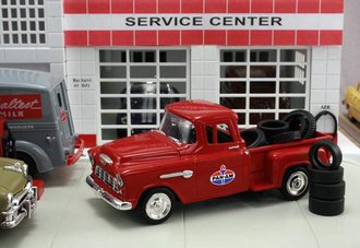 """1955 Chevy Pickup """"Pan-Am"""" w/Tire Load"""