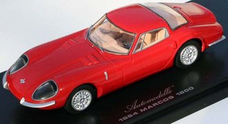 1964 Marcos 1800 (LHD) (Red/Tan)
