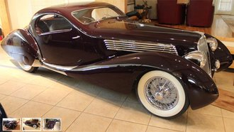 "1:24 1937 Delahaye 135MS ""Figoni & Falaschi"" (Aubergine) w/Removable Roof Panel"