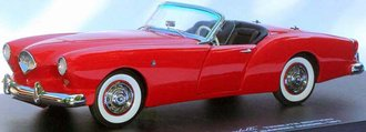 1954 Kaiser Darrin 161 (Red Sail w/Black Top & Interior)