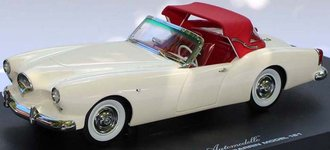 1954 Kaiser Darrin 161 (Champagne White w/Red Top & Interior)
