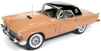 1:18 1957 Ford Thunderbird Convertible (60th Anniversary) (Coral Sand w/Black Roof)