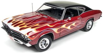 1:18 1969 Chevrolet Chevelle SS396 Hardtop (Hot Rod Magazine) (Maroon)