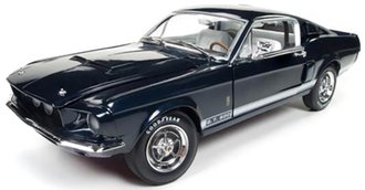 1:18 1967 Shelby GT-500 2+2 (Hemmings Muscle Machines & 50th Anniversary) (Nightmist Blue)