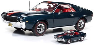 "1:18 1968 AMC AMX Hardtop ""Class of 68 - 50th Anniversary"" w/1:64 Scale Johnny Lightning"