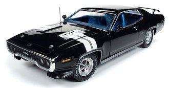 1:18 1971 Plymouth GTX Hardtop (Black Velvet w/White Stripes)