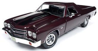 "1:18 1970 Chevrolet El Camino Car Truck ""100th Anniversary"" (Black Cherry)"