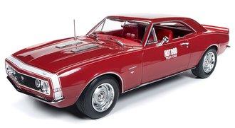 "1:18 1967 Chevrolet Camaro SS Test Car ""Hot Rod Magazine"" (Red w/White Nose Stripe)"