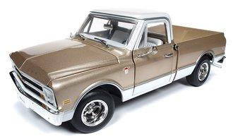 1:18 1968 Chevrolet C10 Fleet Side Pickup Truck (Gold w/White Top)