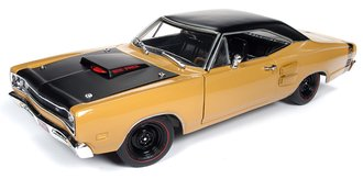 "1:18 1969½ Dodge Super Bee Hardtop ""Class of 1969"" (Butterscotch w/Flat Black Roof, Red Engine Bay)"