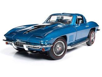 "1:18 1967 Chevrolet Corvette Coupe ""MCACN"" (Marina Blue)"