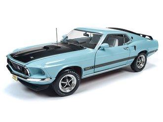 """1:18 1969 Ford Mustang Mach 1 """"Class of 1969"""" (Aztec Aqua)"""